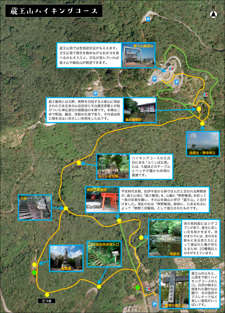 蔵王山ハイキングコース